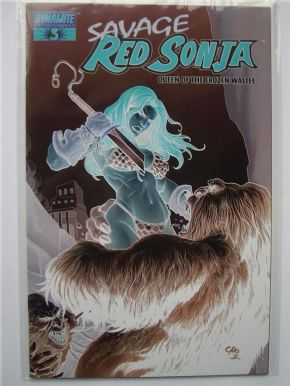 Savage Red Sonja #3 Frank Cho Negative Virgin Retailer Variant